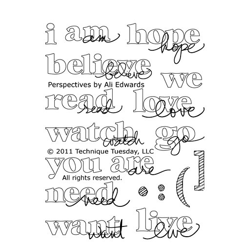 Technique Tuesday - Clear Acrylic Stamps - Perspectives by Ali Edwards