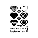 Technique Tuesday - Clear Acrylic Stamps - Puffy Hearts