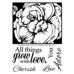 Technique Tuesday - Clear Acrylic Stamps - Romantic Rose