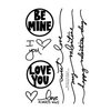 Technique Tuesday - Clear Acrylic Stamps - Be Mine by Ali Edwards