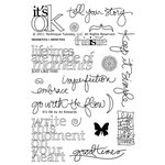 Technique Tuesday - Clear Acrylic Stamps - It's OK by Ali Edwards