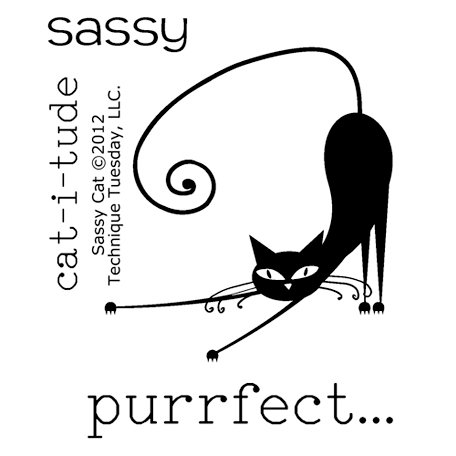 Technique Tuesday - Clear Acrylic Stamps - Sassy Cat