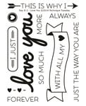 Technique Tuesday - Clear Acrylic Stamps - Say It 2 - Love You