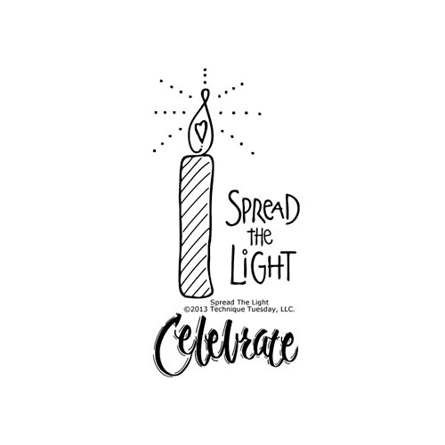Technique Tuesday - Clear Acrylic Stamps - Spread the Light