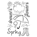Technique Tuesday - Clear Acrylic Stamps - Spring