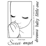 Technique Tuesday - Clear Acrylic Stamps - Sweet Angel