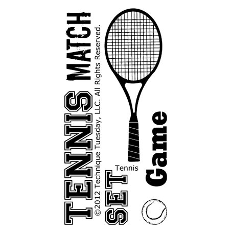 Technique Tuesday - Clear Acrylic Stamps - Tennis