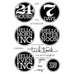 Technique Tuesday - Clear Acrylic Stamps - Tick Tock by Ali Edwards