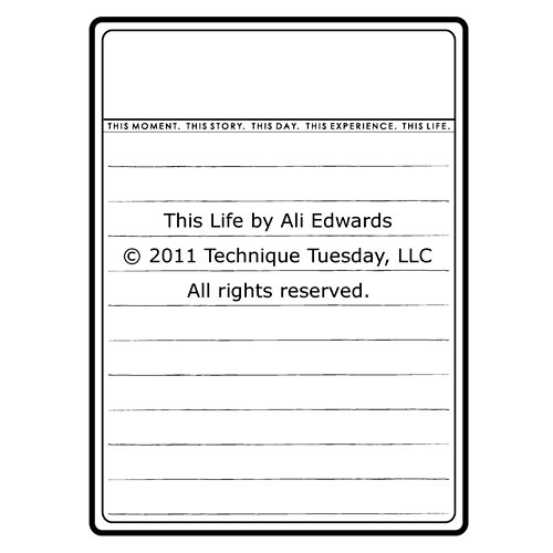 Technique Tuesday - Clear Acrylic Stamps - This Life by Ali Edwards
