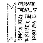 Technique Tuesday - Clear Acrylic Stamps - Today Banners by Ali Edwards