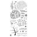 Technique Tuesday - Clear Acrylic Stamps - Tree-mendous