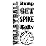Technique Tuesday - Clear Acrylic Stamps - Volleyball