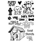 Technique Tuesday - Clear Acrylic Stamps - Who Let the Dogs Out