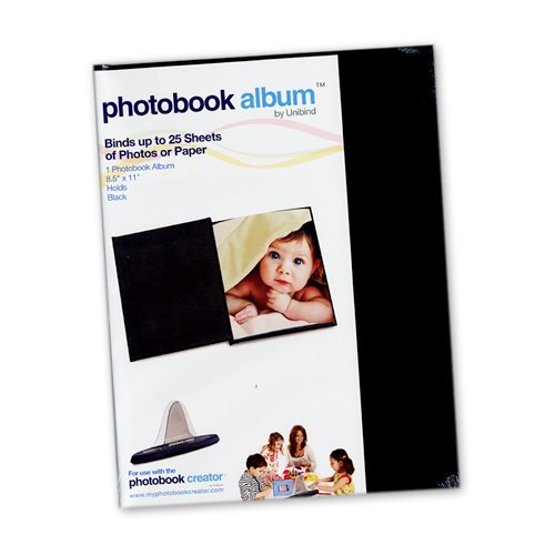 Unibind - Photobook Album - 8.5 x 11 - Black Leather - 5mm