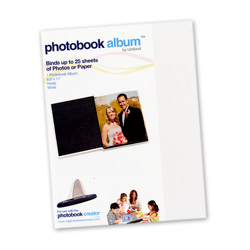 Unibind - Photobook Album - 8.5 x 11 - White Glossy - 5mm