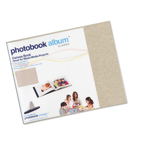 Unibind - Photobook Album - 8.5 x 11 - Natural Canvas - 9mm