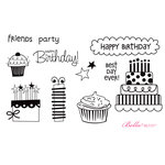 Unity Stamp - Bella Blvd Collection - Unmounted Rubber Stamp Set - Sweet Celebration Birthday