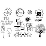 Unity Stamp - Bella Blvd Collection - Unmounted Rubber Stamp Set - Family Dynamix