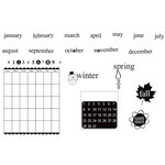 Unity Stamp - Bella Blvd Collection - Unmounted Rubber Stamp Set - Sophisticates Notes