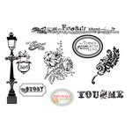 Unity Stamp - Echo Park Collection - Unmounted Rubber Stamp - Better with Love