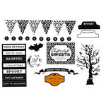 Unity Stamp - Echo Park Collection - Halloween - Unmounted Rubber Stamp - Fright Night