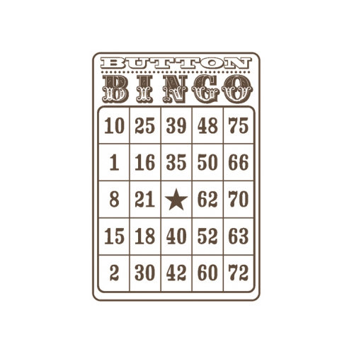 Unity Stamp - Jillibean Soup Collection - Itty Bitty - Unmounted Rubber Stamp - Button Bingo