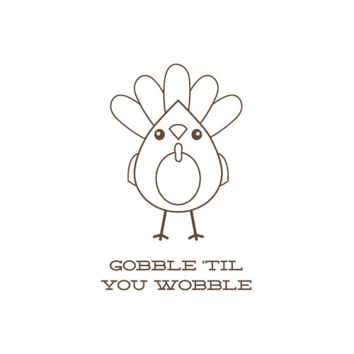 Unity Stamp - Jillibean Soup Collection - Itty Bitty - Unmounted Rubber Stamp - Gobble