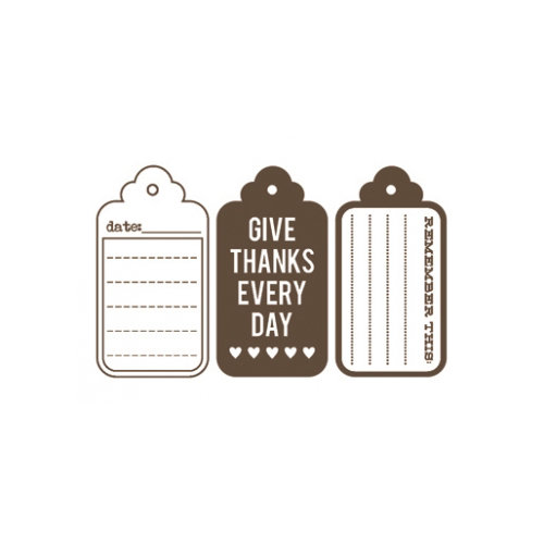 Unity Stamp - Jillibean Soup Collection - Itty Bitty - Unmounted Rubber Stamp - Give Thanks Everyday