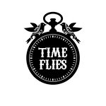 Unity Stamp - Itty Bitty Collection - Unmounted Rubber Stamp - Time Flies
