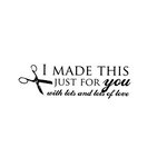 Unity Stamp - Melody Ross Collection - Itty Bitty - Unmounted Rubber Stamp - Made With Love