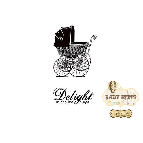 Unity Stamp - Simple Stories Collection - Itty Bitty - Unmounted Rubber Stamp - Delight in the Little Things