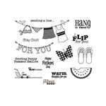 Unity Stamp - Jillibean Soup Collection - Unmounted Rubber Stamp - Watermelon Gazpacho