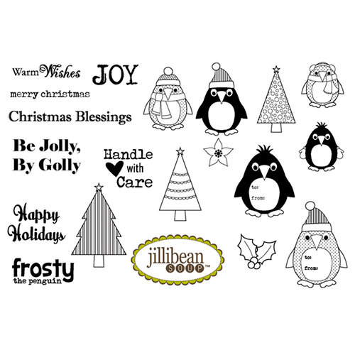 Unity Stamp - Jillibean Soup Collection - Unmounted Rubber Stamp - Christmas Eve Chowder