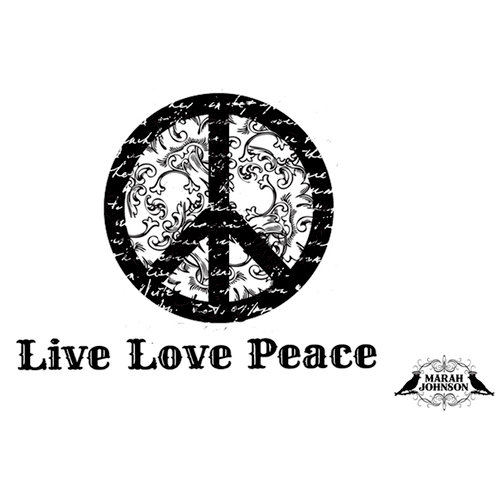 Unity Stamp - Unmounted Rubber Stamp - Vintage Peace
