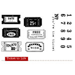 Unity Stamp - Unmounted Rubber Stamp - Ticket to Life