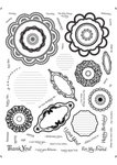 Unity Stamp - Unmounted Rubber Stamp - Blossom Stackers
