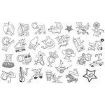 Unity Stamp - Unmounted Rubber Stamp - A to Z Alphabet