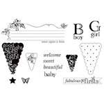 Unity Stamp - Unity Artista Collection - Unmounted Rubber Stamp Set - Welcome Baby