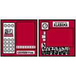 Uniformed Scrapbooks of America - 8 x 8 Page Kit - University of Alabama
