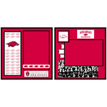 Uniformed Scrapbooks of America - 8 x 8 Page Kit - University of Arkansas