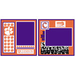 Uniformed Scrapbooks of America - 8 x 8 Page Kit - Clemson University