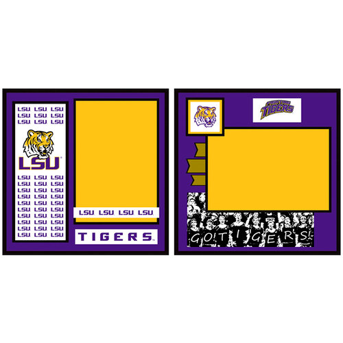 Uniformed Scrapbooks of America - 8 x 8 Page Kit - LSU