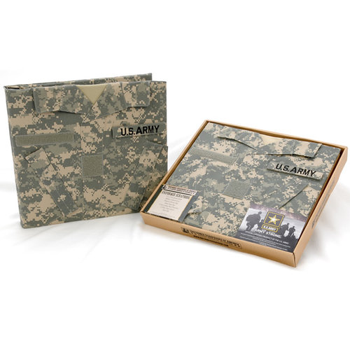 Uniformed Scrapbooks of America - 12 x 12 Postbound Album - Military Uniform Cover - U.S. Army