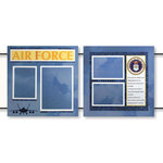 Uniformed Scrapbooks of America - 12 x 12 Page Kit - Air Force
