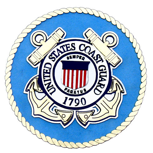 Uniformed Scrapbooks of America - 3 Dimensional Die Cut - Emblem - Coast Guard