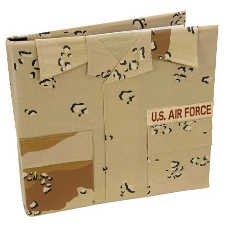 Uniformed Scrapbooks of America - 12 x 12 Postbound Album - Military Uniform Cover - Air Force - Desert Battle Dress