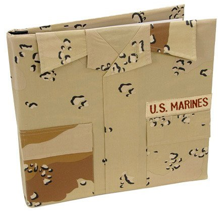 Uniformed Scrapbooks of America - 12 x 12 Postbound Album - Military Uniform Cover - Marines - Desert Battle Dress