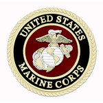 Uniformed Scrapbooks of America - 3 Dimensional Die Cut - Emblem - Marine