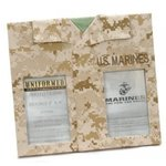 Uniformed Scrapbooks of America -  Double 4 x 6 Frame - U.S. Marine Corps - Desert