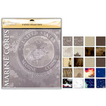 Uniformed Scrapbooks of America - 12 x 12 Paper Pack - U.S. Marine